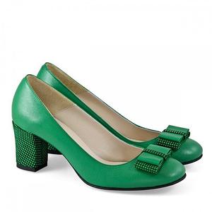 pantofi din piele naturala verde samantha 3170 4