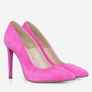 pantofi fuchsia piele naturala anafashion 1