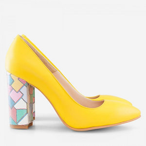 pantofi galbeni din piele naturala summer d3 1