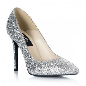 pantofi glitter argintiu stiletto l05 1  1