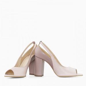 pantofi grej din piele naturala gily d51 1