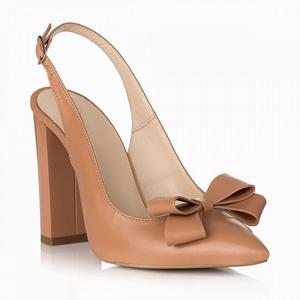 pantofi kamelia din piele naturala cappuccino s29 1