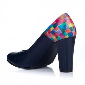 pantofi la comanda mozaic bleumarin 1