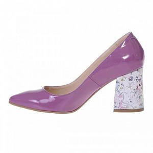 pantofi lila din piele lacuita sara s55 1