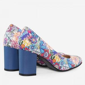 pantofi multicolori din piele naturala cataleya d2 1