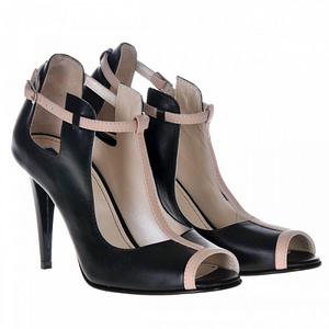 pantofi negri din piele zora s55 1