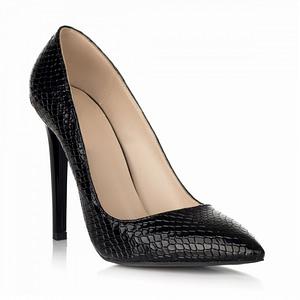pantofi negri imprimeu sarpe lara s15 1