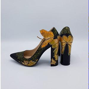 pantofi negri pictati sappire  manual  1  1