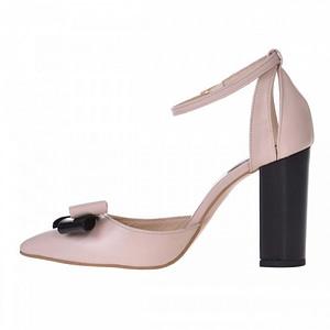 pantofi nude din piele naturala carol s11 1
