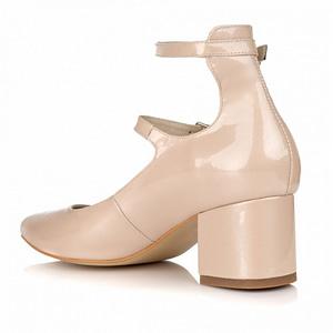 pantofi nude din piele naturala gladiator l100 1