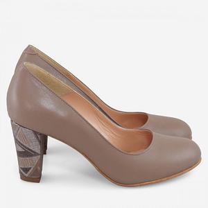 pantofi office din piele cappuccino bernadine anafashion1