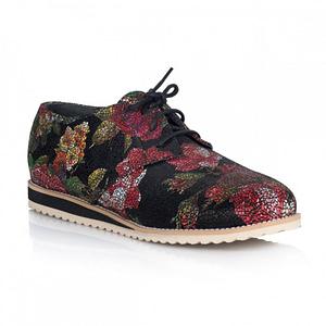 pantofi oxford cu talpa joasa flower 1