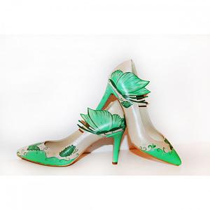 pantofi pictati manual green fantasy c103 1