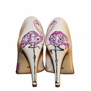 pantofi pictati manual la comanda