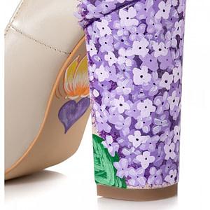 pantofi pictati manual liliac c105 1