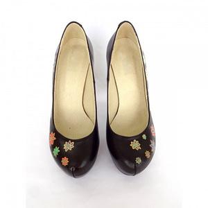 pantofi pictati online piele naturala