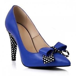 pantofi piele albastri cu buline s91 1
