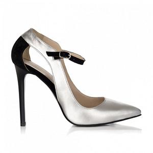 pantofi piele arina argintii s10 1