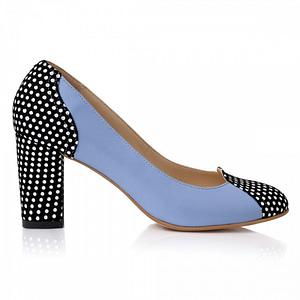 pantofi piele blue cu buline ns3 1