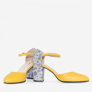 pantofi piele galbeni ivy d18 1