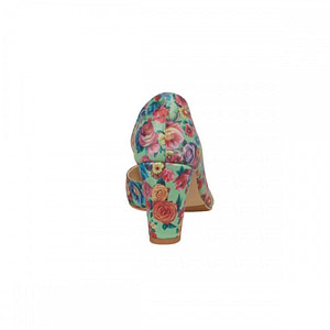 pantofi piele imprimeu floral mona n20 1