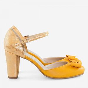 pantofi piele in love galbeni d2