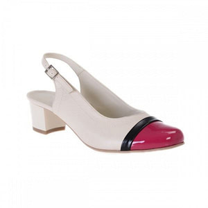 pantofi piele lacuita madame decupat nude mov