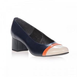pantofi piele lacuita madame inchis bleumarin nude
