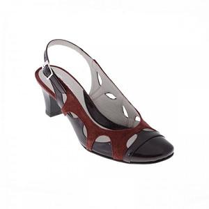 pantofi piele naturala combi bleumarin