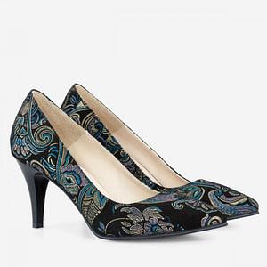 pantofi piele naturala imprimata stiletto aafashion 1