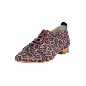 pantofi piele naturala leopard