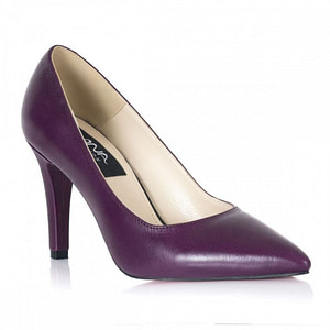 pantofi piele naturala mov  1