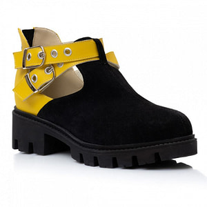 pantofi piele naturala negru galben la comanda 1