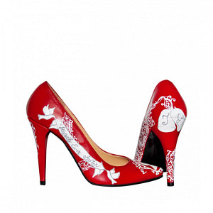 pantofi piele naturala pictati manual l101 1