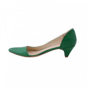 pantofi piele naturala verzi