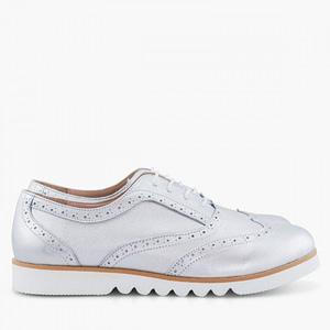 pantofi piele oxford iris argintii d10 1