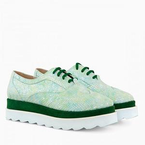 pantofi piele oxford verde star d7 1