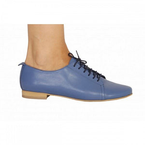 pantofi piele oxford2 albstru