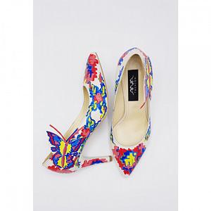 pantofi piele pictati manual cu motive traditional 1