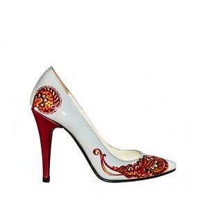 pantofi piele pictati manual mira l97 1