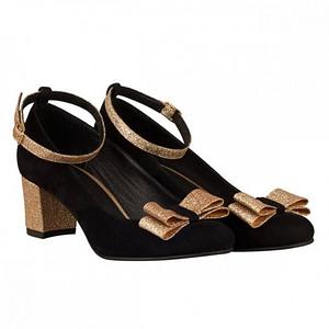 pantofi piele roza negru n71 1