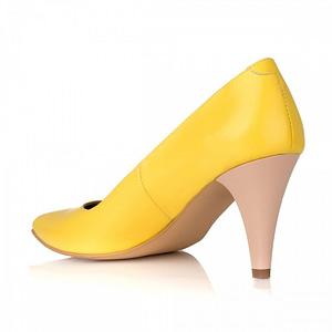 pantofi piele simply galben v02 1