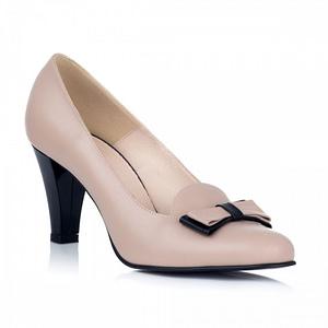 pantofi piele swee elegance bej l2 1