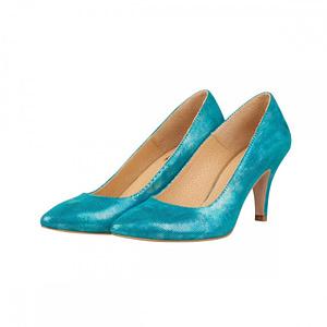 pantofi piele turcoaz  1