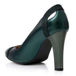 pantofi piele verde sidef samantha s31 1