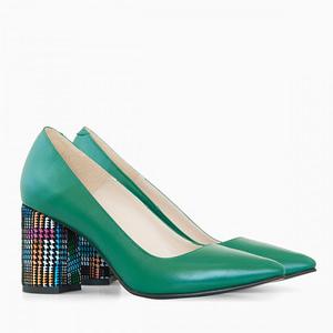 pantofi piele verzi alma d17