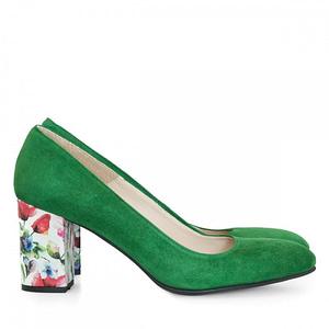 pantofi piele verzi anafashion