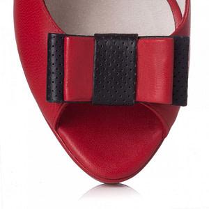 pantofi rosii piele isabelle l04 1
