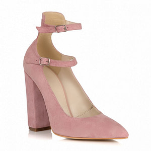 pantofi roz pudra piele naturala gladiator l33 1