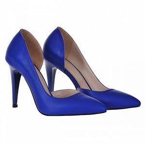 pantofi stiletto albastru classy decupat s91 1